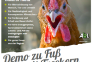 Mein Huhn fordert gerechtere Arbeitsbedingungen in der Landwirtschaft